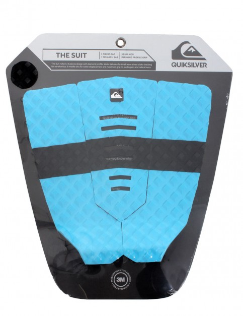 Quiksilver The Suit surfboard tail pad - Blue/Black