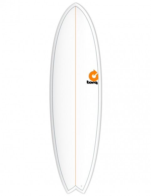 Torq Mod Fish surfboard 6ft 6 - White/Pinline