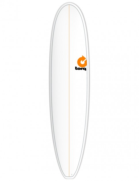 Torq Mini Long surfboard 8ft 0 - White/Pinline