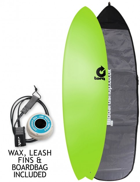 Torq Fish Soft & Hard surfboard 6ft 10 package - Green