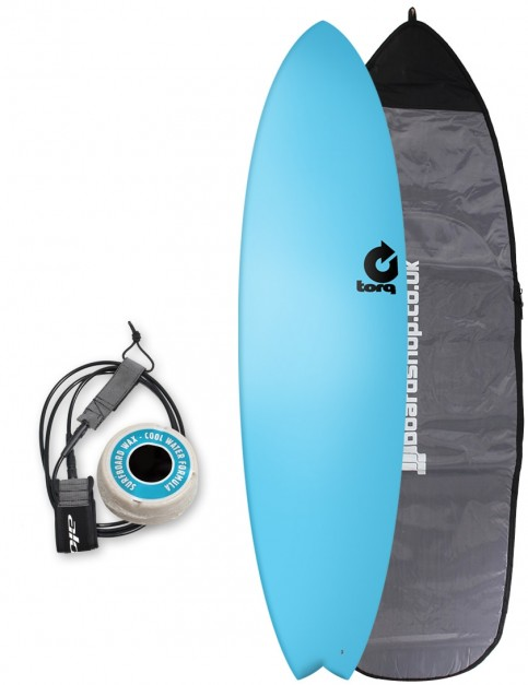 Torq Fish Soft & Hard surfboard package 7ft 2 - Blue