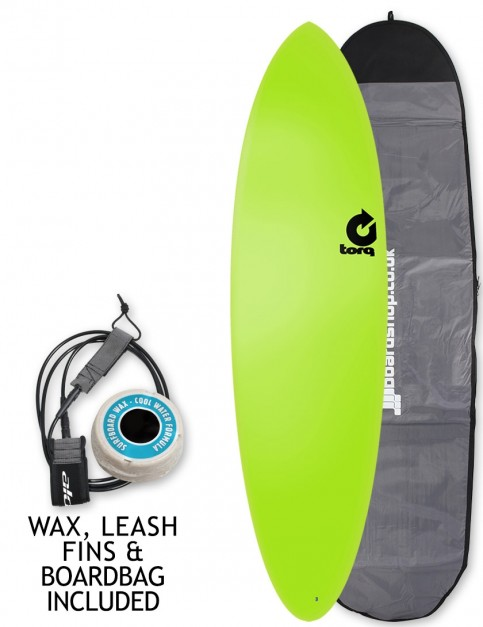 Torq Fun Soft & Hard surfboard 6ft 8 package - Green