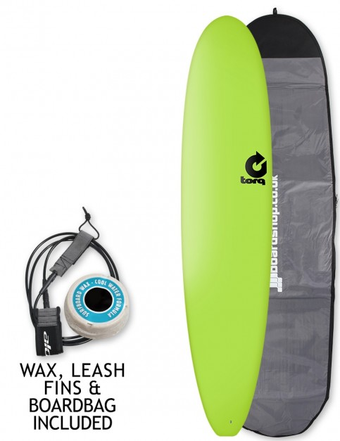 Torq Long Soft & Hard surfboard 8ft 6 package - Green