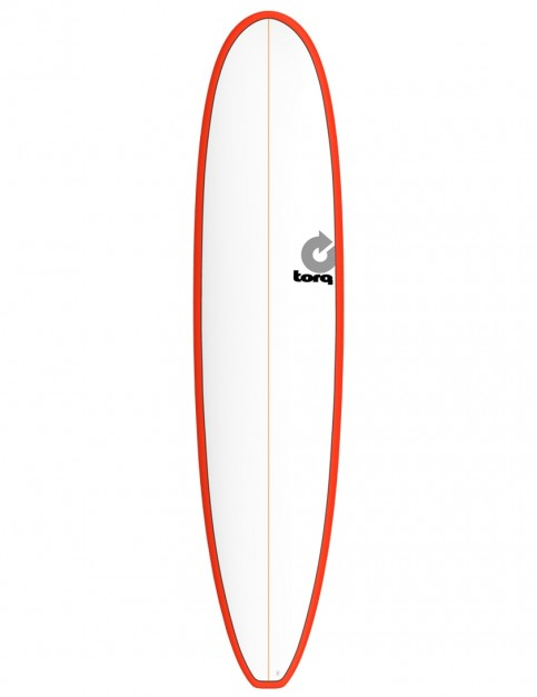 Torq Longboard surfboard 8ft 6 - Red/White Pinline