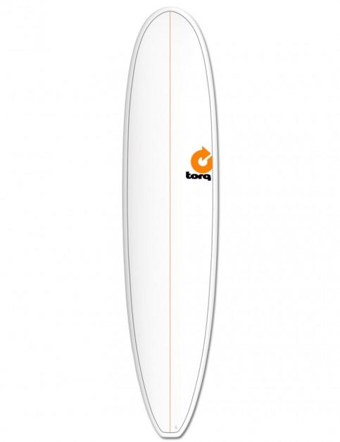 Torq Longboard surfboard 8ft 6 - White/Pinline