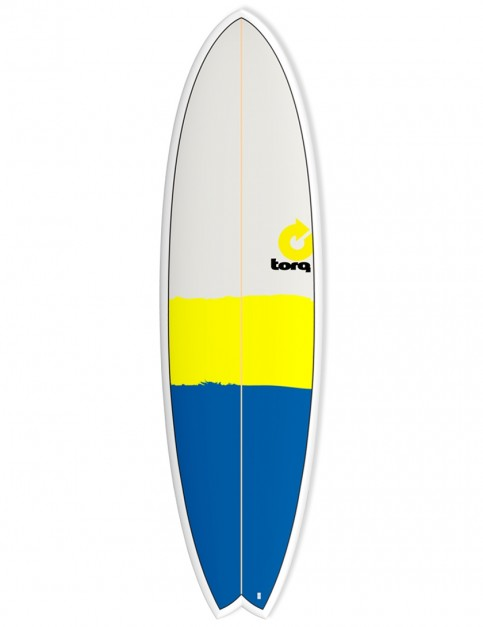 Torq Mod Fish surfboard 6ft 10 - Blue/Yellow/Grey