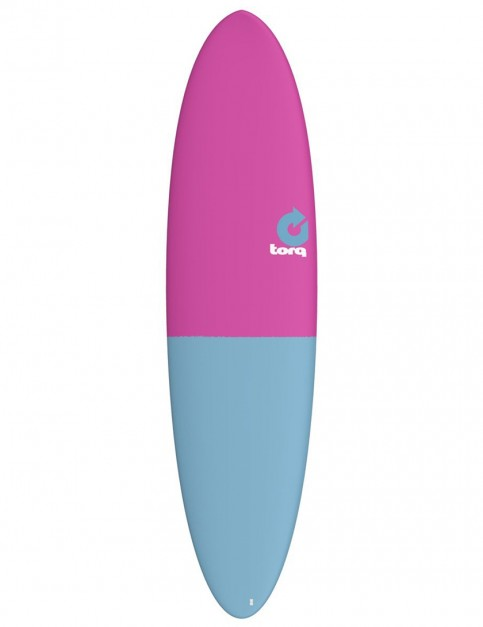 Torq Mod Fun surfboard 7ft 2 - Raspberry/Blue Tail