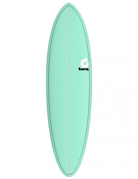 Torq Mod Fun surfboard 6ft 8 - Sea Green/Pinline