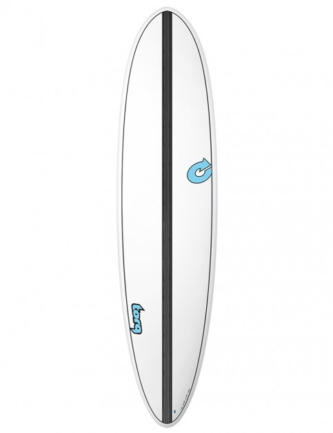 Torq Mod Fun surfboard 7ft 6 - White/Carbon Strip