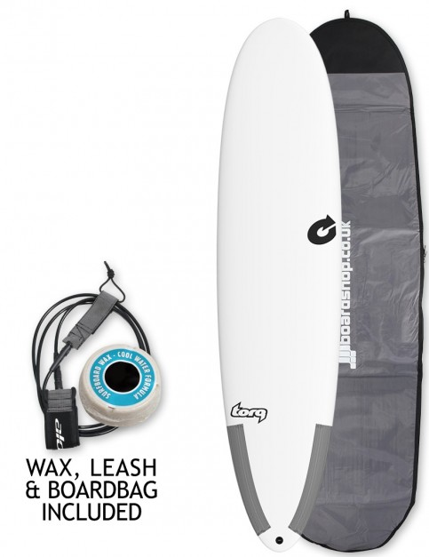 Torq Tec M2 surfboard package 7ft 6 - White