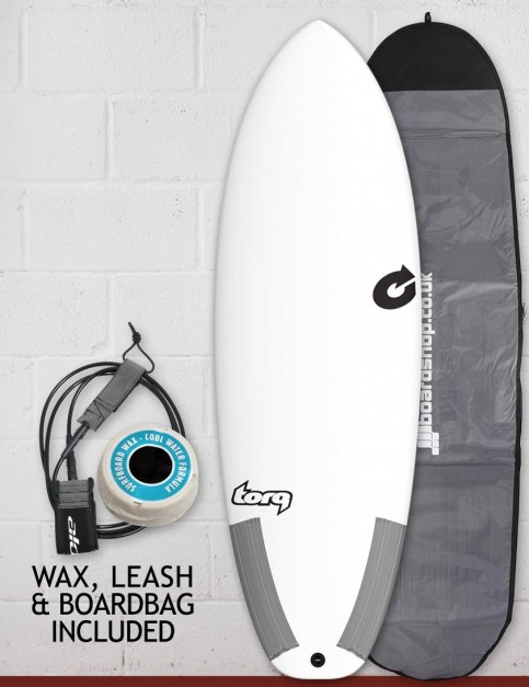 Torq Tec Summer 5 surfboard package 6ft 2 - White