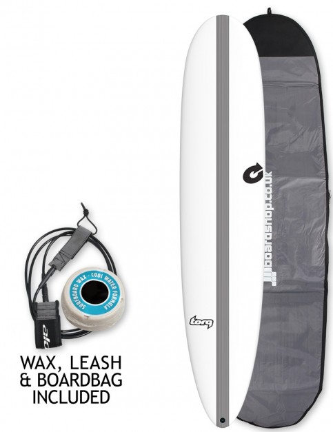 Torq Tec The Don surfboard package 8ft 6 - White