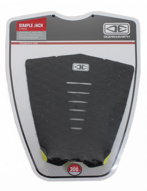 Ocean & Earth Simple Jack Surfboard Tail Pad - Black