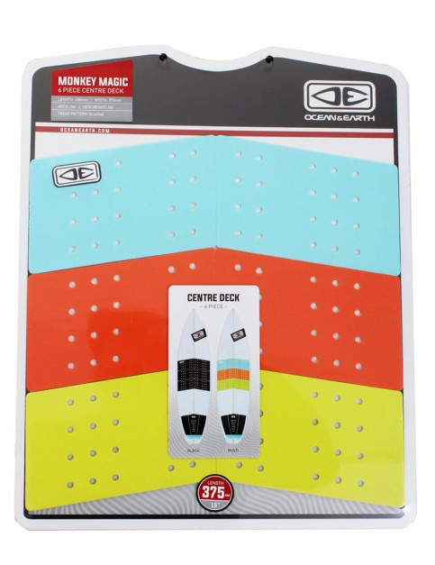 Ocean & Earth Monkey Magic Centre Deck Surfboard Traction Pad - Multi Colour
