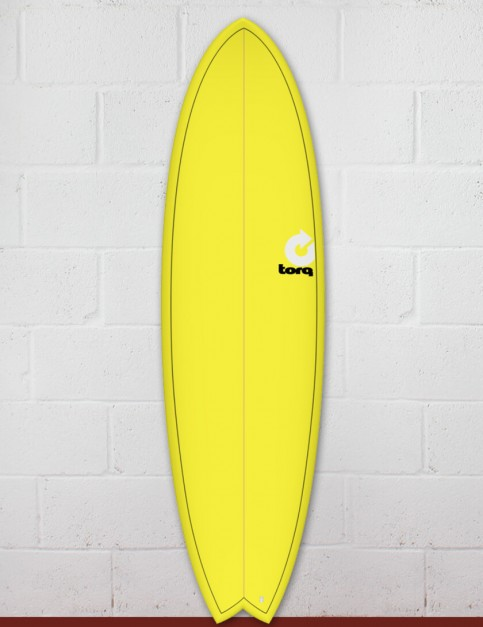 Torq Mod Fish surfboard 6ft 6 - Yellow Fade