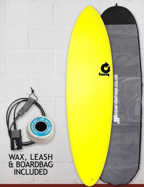 Torq Fun Soft & Hard surfboard package 6ft 8 - Yellow
