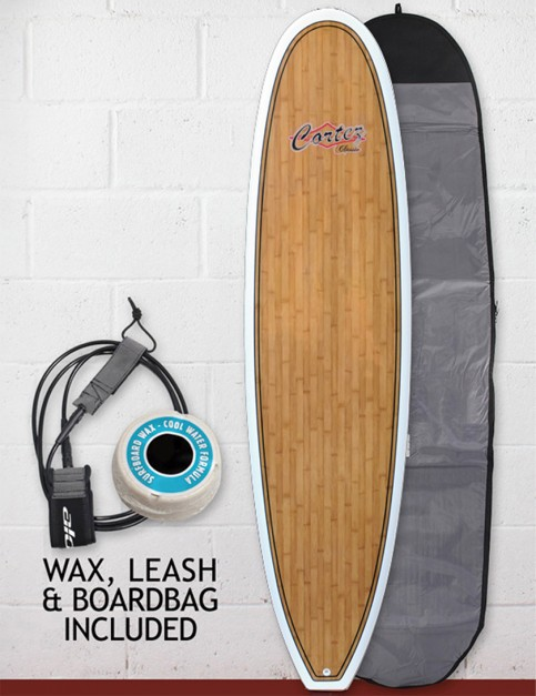 Cortez Fun Veneer Surfboard Package 8ft 0 - Bamboo
