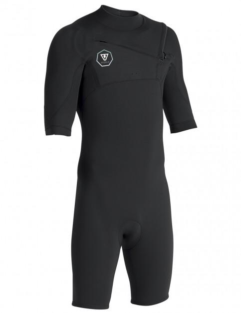 337dd0cd255 Vissla 7 Seas Chest Zip Shorty 2/2mm wetsuit 2019 - Black/Jade