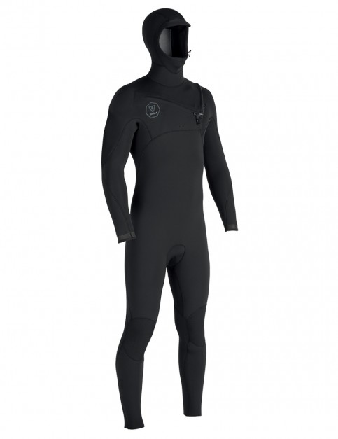 Vissla 7 Seas Hooded 4/3mm wetsuit 2018 - Black Fade