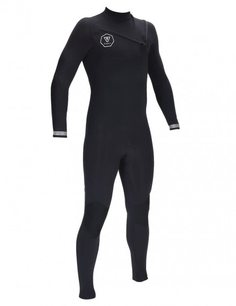 Vissla 7 Seas Chest Zip 4/3mm Wetsuit 2017 - Black/Silver