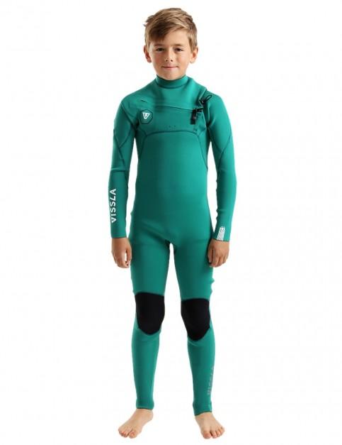 2584991149f Vissla Boys 7 Seas Chest Zip 3/2mm wetsuit 2019 - Evergreen
