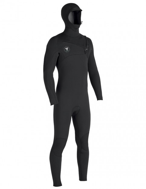 Vissla 7 Seas 4/3mm Hooded wetsuit - Black/Jade