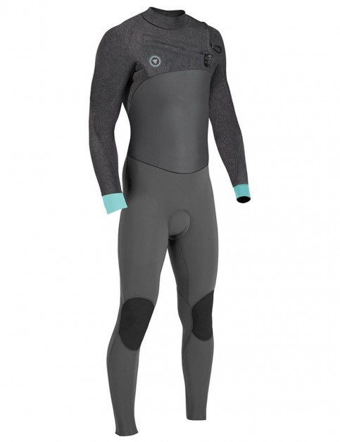 Vissla 7 Seas 50/50 Chest Zip 4/3mm wetsuit - Black/Heather