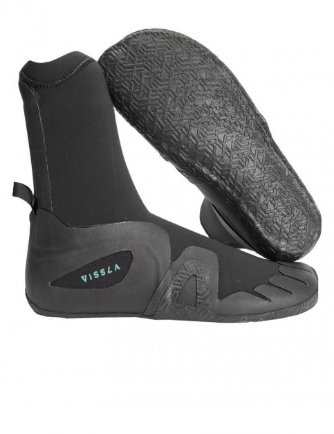 Vissla 7 Seas Round Toe 7mm wetsuit boot - Black