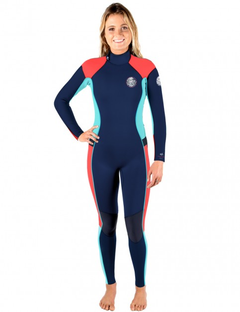 Rip Curl Ladies Dawn Patrol Back Zip 3/2mm Wetsuit 2017 - Navy