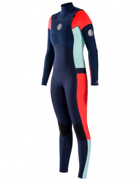 Rip Curl Ladies Dawn Patrol Chest Zip 5/3mm Wetsuit 2017 - Navy