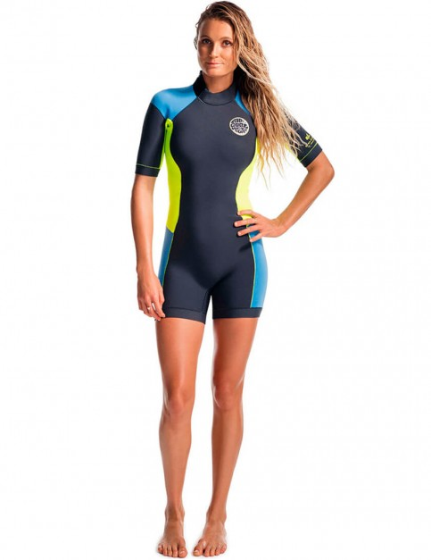 Rip Curl Ladies Dawn Patrol Shorty 2/2mm Wetsuit - Blue