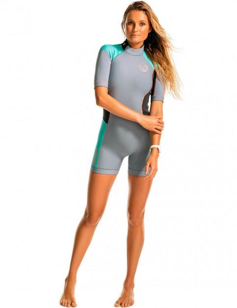 Rip Curl Ladies Dawn Patrol Shorty 2/2mm Wetsuit - Turquoise