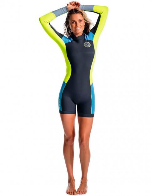Rip Curl Ladies Dawn Patrol Long Sleeve Shorty 2/2mm Wetsuit - Blue