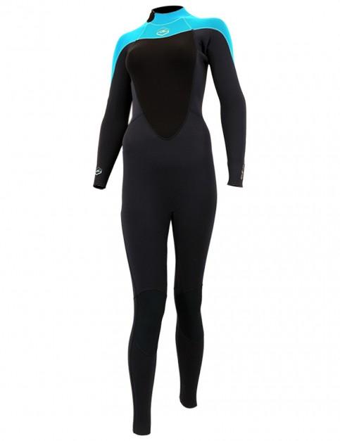 Alder Ladies Reflex Back Zip 5/4/3mm Wetsuit 2018 - Turquoise