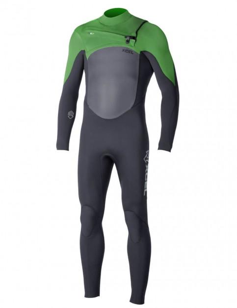 Xcel Infinity X2 Chest Zip 3/2mm Wetsuit 2016 - Black/Bright Green