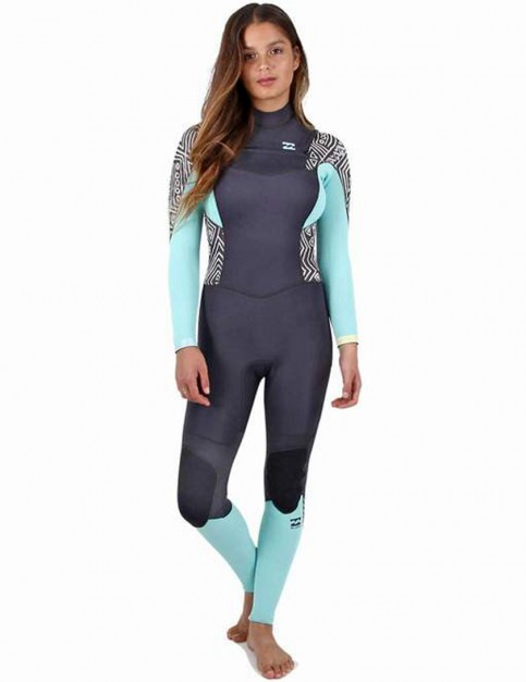 Billabong Ladies Synergy Chest Zip 5/4mm Wetsuit 2017 - Geo Diamond