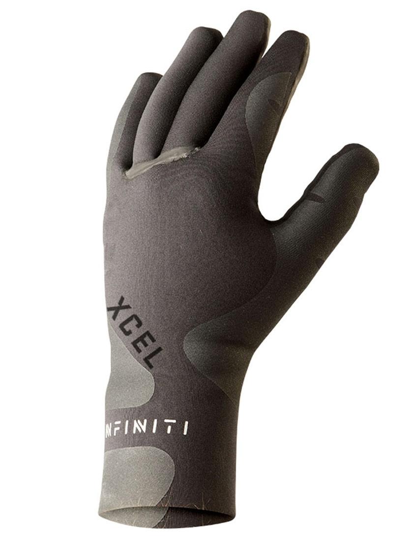 Black NEW TEXTURED EXTERIOR Quick dry Unisex XCEL Infiniti 3mm 5 Finger Neoprene Wetsuit Gloves GRIP PALMS