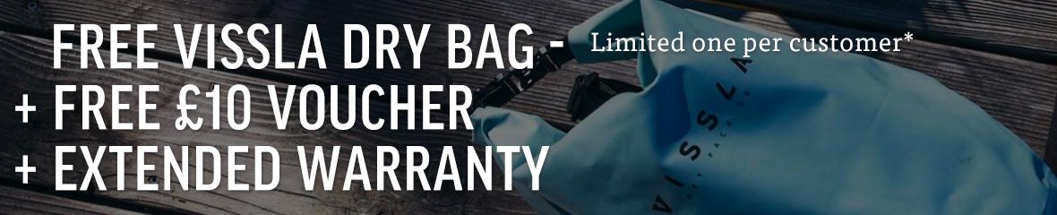 Free Vissla Dry Bag + Extended Warranty + Gift Voucher