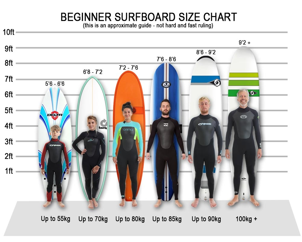 Beginner Surfboards Size Guide