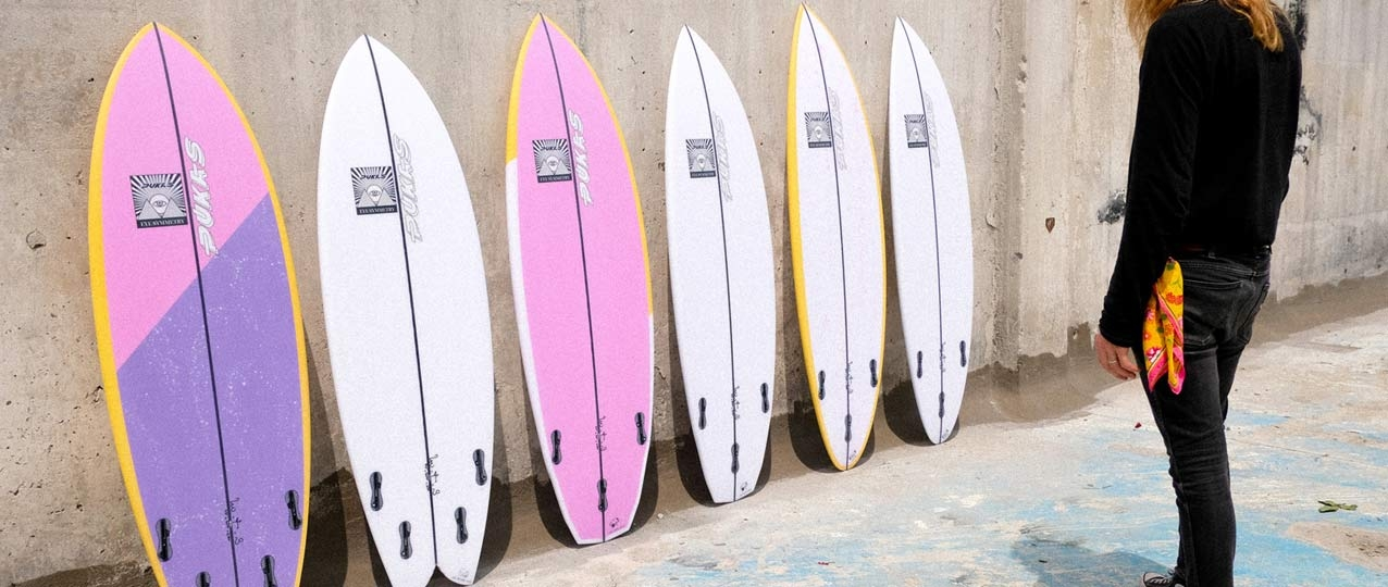 Pukas Eye Symmetry Surfboards Line Up