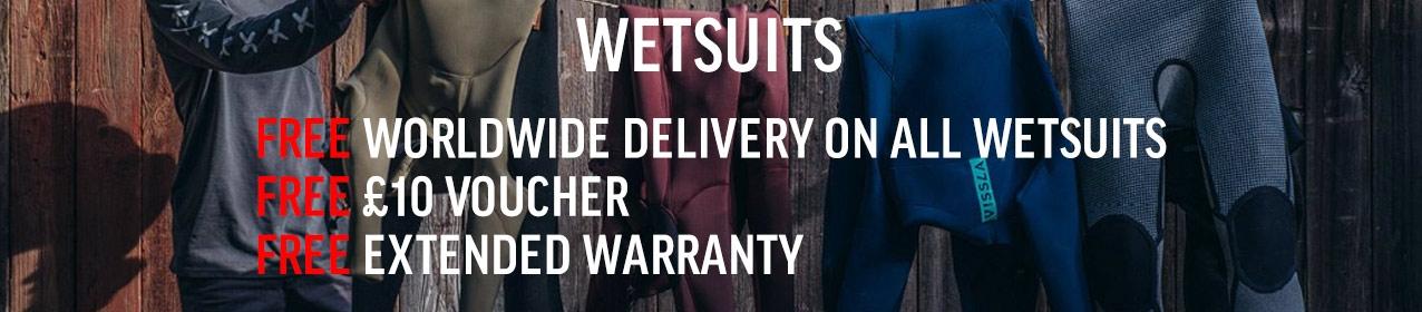 Wetsuit Warranty Banner